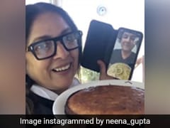 नीना गुप्ता ने शेफ विकास खन्ना की मदद से बनाया लेमन योगर्ट केक, Video शेयर करते हुए कहा...