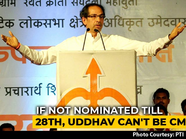 Video : Uddhav Thackeray, Unelected, Has A Month To Qualify To Keep His Job