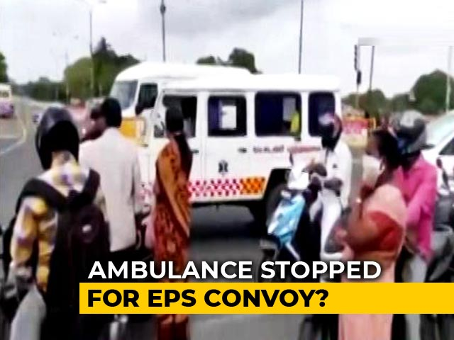 Video : Ambulance Stopped For Tamil Nadu Chief Minister's Convoy? Cops Say No