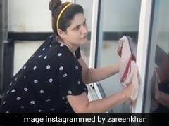 जरीन खान ने आइसोलेशन में रहते हुए यूं की सफाई, Video शेयर कर बोलीं- घर की सफाई करना...
