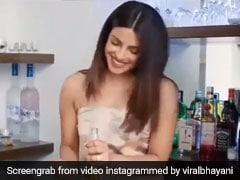 प्रियंका चोपड़ा ने बीयर की बोतल में नींबू डालते हुए अमेरिकी अंदाज में कही यह बात, Video हुआ वायरल