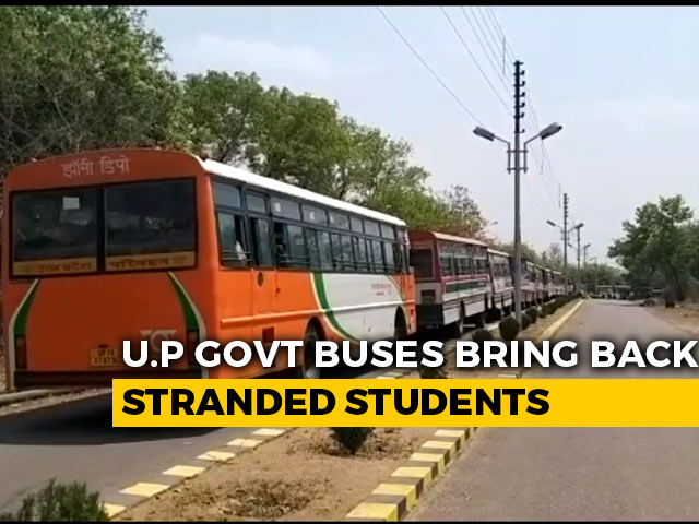 Video : Buses With Students From Rajasthan Return To UP, Evacuees To Be Screened