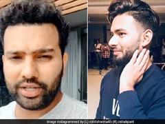 रोहित शर्मा को ऋषभ पंत ने दिया छक्के मारने का चैलेंज तो हिटमैन बोले- 'एक साल नहीं हुआ तुझे क्रिकेट खेलते हुए और...' देखें Video