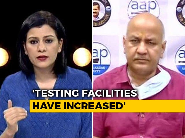 """Video : """"Outside Affected Areas, Cases Aren't Rising Rapidly"""": Manish Sisodia"""