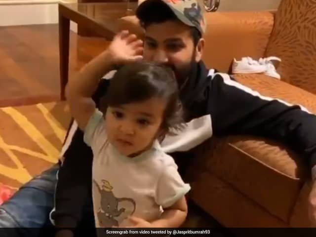 Jasprit Bumrah Shares Adorable Video Of Rohit Sharmas Daughter Trying To Copy His Action. Watch