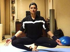 "Sushmita Sen Aces Rohman Shawl's Yoga Challenge. His ""Jaw Hit The Floor"""