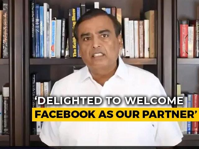 "Video: ""Facebook-Jio Partnership Will Make India Leading Digital Society"": Mukesh Ambani"