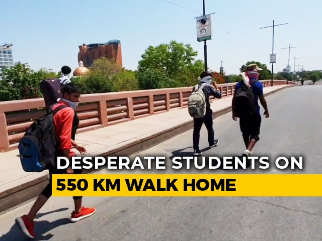 Video : 4 Desperate UP Students Brave Heat, Lockdown To Walk Over 500 km Home