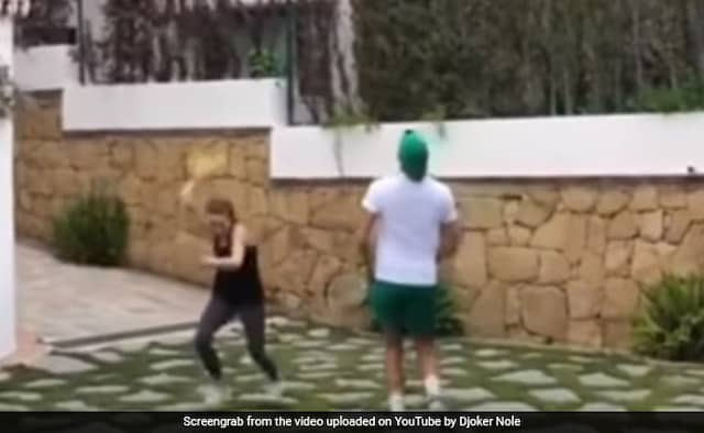 Novak Djokovic Playing Tennis with Wife Jelena Watch Viral Video