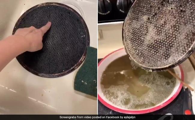 लड़की ने ऐसे साफ कर चमका दिया जला हुआ PIZZA पैन, 2 करोड़ से ज्यादा बार देखा गया TikTok Video