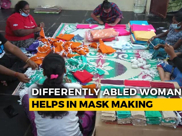 Video : Differently-Abled Homeless Women Make Masks For Chennai Sanitary Workers
