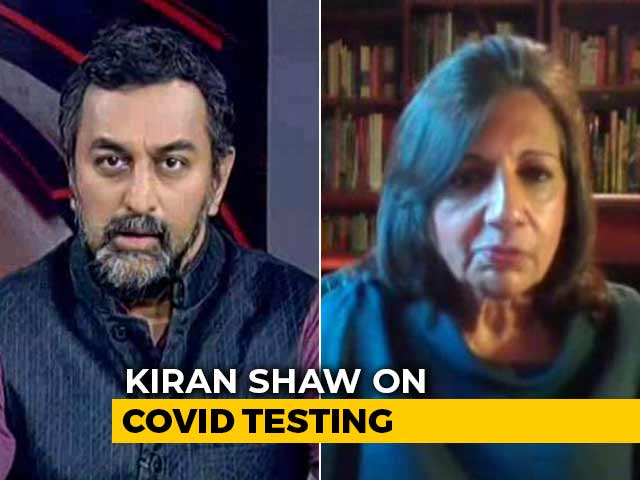 Video : Government, Insurance Companies Should Pay For Coronavirus Tests: Kiran Mazumdar-Shaw