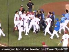 Watch: Social Distancing Takes A Hit As Taiwan Baseball Teams Brawl