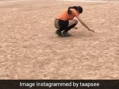 तापसी पन्नू ने गुलाटियां मारते हुए अपना पुराना वीडियो किया शेयर, लिखा- ''हॉकी वर्ल्ड में इसे...''
