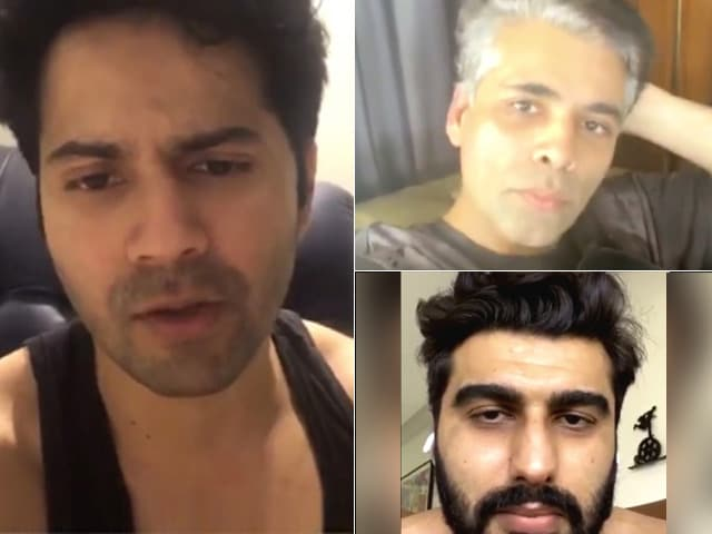 Varun Catches Up With Arjun & Karan Johar On Instagram