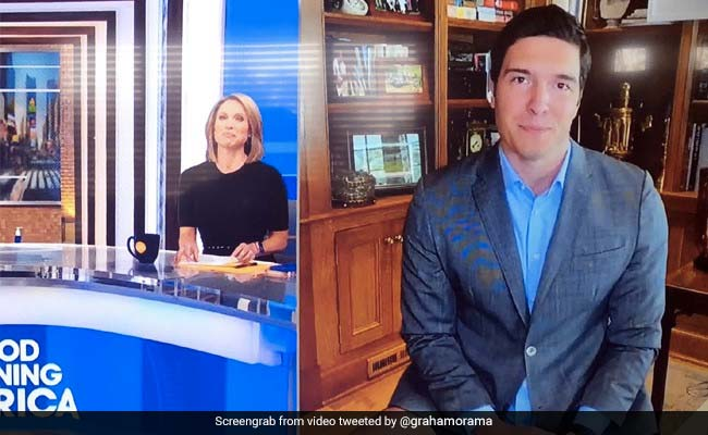 बिना पैंट पहने Live टीवी पर आ गया रिपोर्टर, पीछे गया कैमरा तो खुली पोल - देखें Viral Video