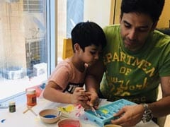 """""""Ice-Cube Painting At Home"""": Tusshar Kapoor And Laksshya Will Drive Away Your Lockdown Blues"""