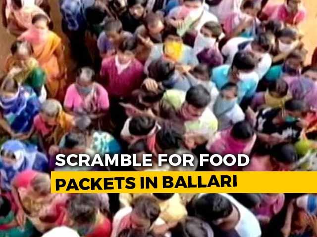 Video : On Camera, Scores Violate Lockdown In Karnataka For Free Food