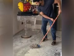 "Ram Charan Nails The ""Real Man"" Challenge, Encourages Others To ""Take Pride In Doing Chores At Home"""