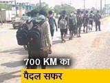 Video : 700 किलोमीटर पैदल चल हैदराबाद से रायपुर पहुंचे भूखे-प्यासे मजदूर