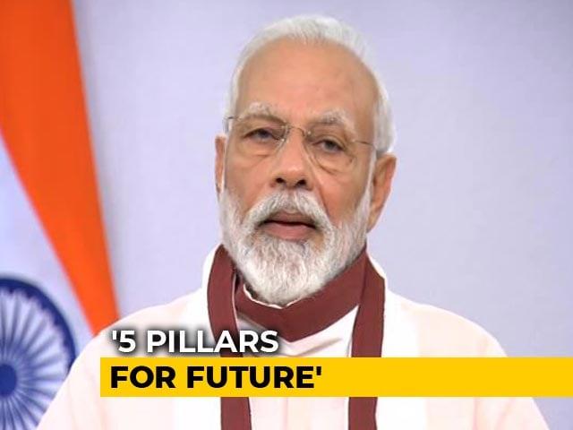 "Video : In Speech, PM Modi Lists ""5 Pillars Of India's Self-Reliance"""