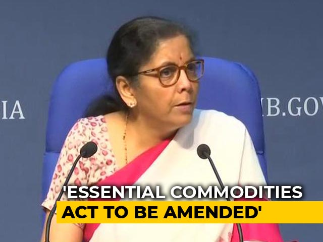 Video : Reforms In Essential Commodities Act, Announces Nirmala Sitharaman