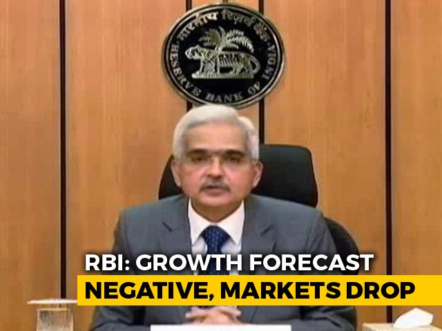 Video : RBI Projects Economic Contraction In 2020-21, Markets Decline