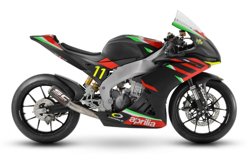 The Aprilia RS250 SP is a track-only racebike designed for a one-make series race