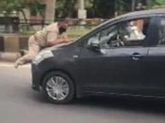 Watch: Punjab Cop Tried To Stop Car During Lockdown, Dragged On Bonnet