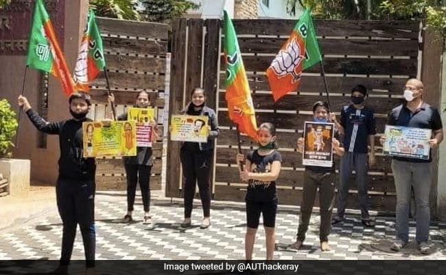 Row Over Maharashtra BJP's COVID-19 Protest After Children Seen Without Masks
