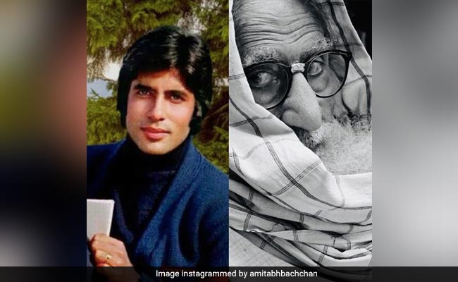 Amitabh Bachchan, As He Once Was Vs As He Is Now. See His Post