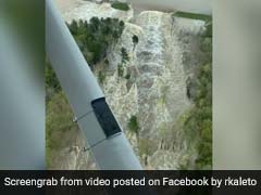 Pilot Captures Dramatic Aerial Footage Of Water Pouring Out After Dam Burst