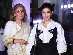 "Twinkle Khanna Had Her First ""<I>Maa Ke Haath Ka Khana</I>."" Courtesy, Dimple Kapadia"