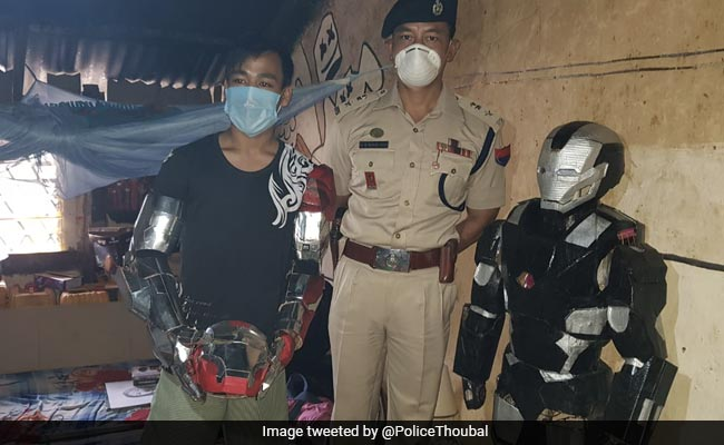 Manipur Man Creates ''Iron Man'' Replica Out Of Electronic Waste