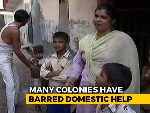 Video : Coronavirus: Should Domestic Helps Be Allowed To Work? Housing Societies In Two Minds