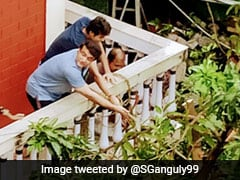 """Sourav Ganguly Star Of """"Another Balcony, Another Show Of Strength"""" - See Pics"""
