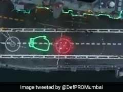 """Watch: India's Aircraft Carrier """"Punches"""" Coronavirus On Its Deck"""