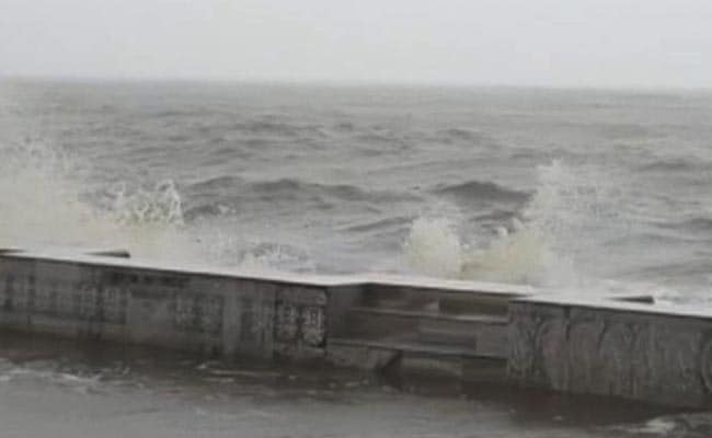 Cyclone Amphan- Watch: Big Waves, Rain At Site Of Cyclone Amphan's ...