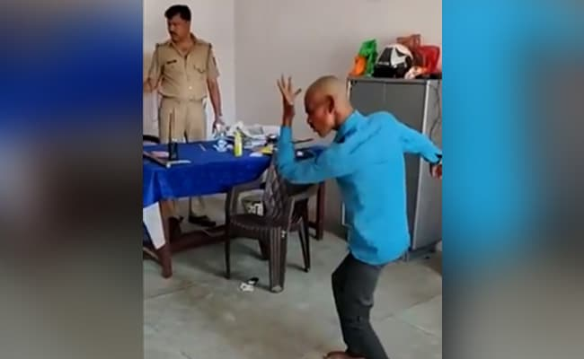 Video Shows Man Forced To Dance Inside UP Police Post
