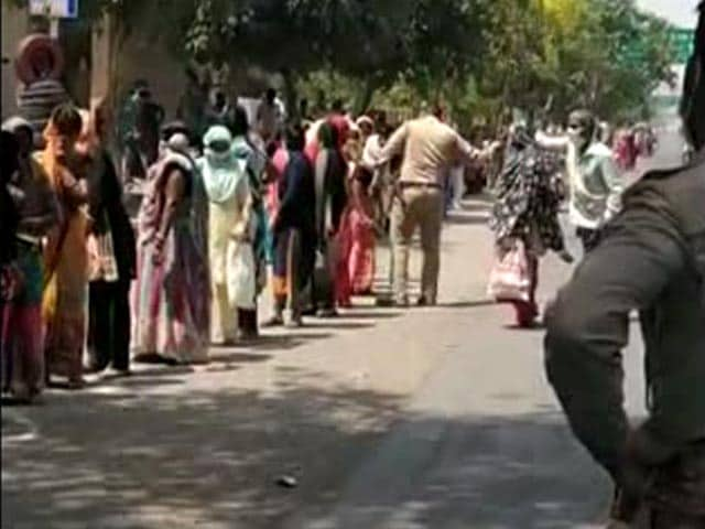 After 11-Hour Wait For Ration, Women Hit By Cop With <i>Lathi</i ...