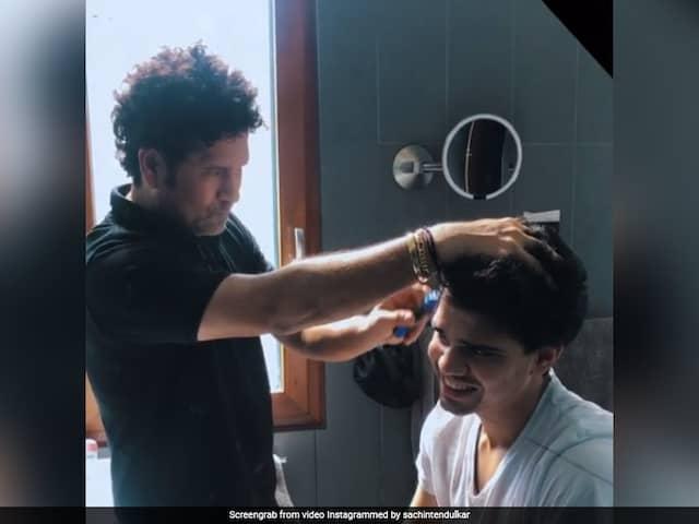 Sachin Tendulkar Turns Barber To Give Son Arjun Tendulkar Haircut During Lockdown. Watch