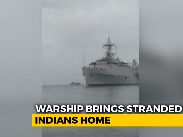 "Video : ""Safe Now"": Indians On Navy Warship That Reached Kochi From Maldives"