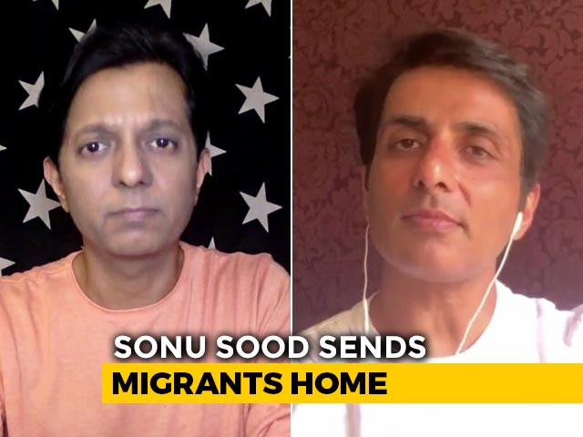 Sonu Sood Sends 350 Migrants Home In 10 Buses