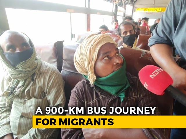 Video : Coronavirus Lockdown: UP Migrant Workers Head Home In Buses