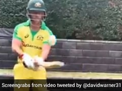 "David Warner ""Bored Of Shadow Batting"", Comes Up With Funny TikTok Video. Watch"