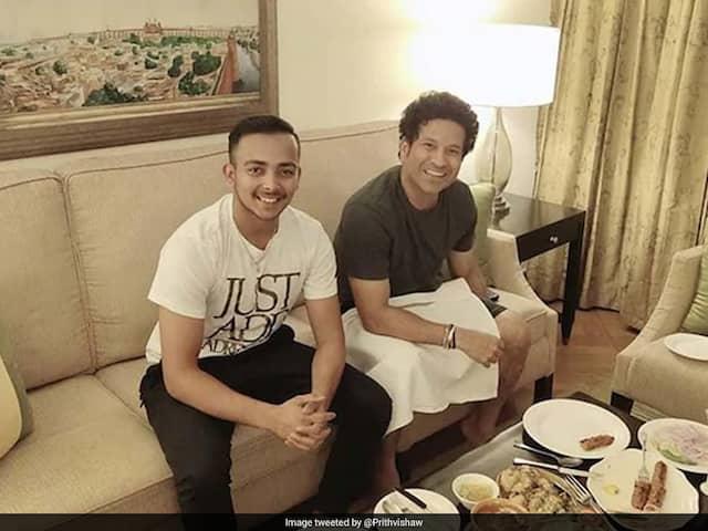 """God Of Cricket"" Sachin Tendulkar Looms Over India Prodigy Prithvi Shaw"