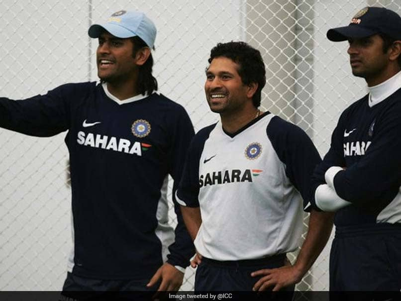 Sachin Tendulkar, MS Dhoni, Rahul Dravid Star In ICCs Throwback Post, Fans Get Nostalgic