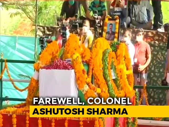 Video : Rising Above Grief, Wife, Daughter Salute Officer Killed In Action In J&K