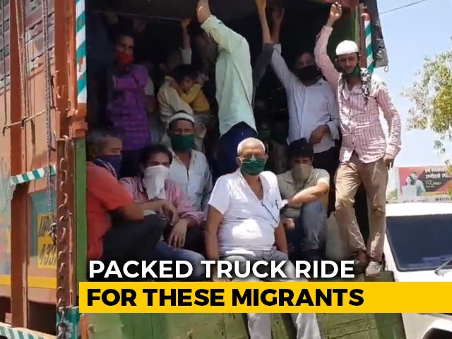 Video : 57 Migrants Pay Rs. 3,000 Each For Packed Truck Ride, Driver Wants More
