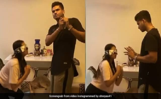 Shreyas Iyer shares Funny Video with Sister goes viral on social media watch